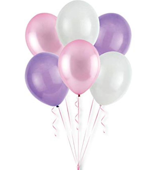 Balloon Bouquets - Purple, Pink, & White Balloons