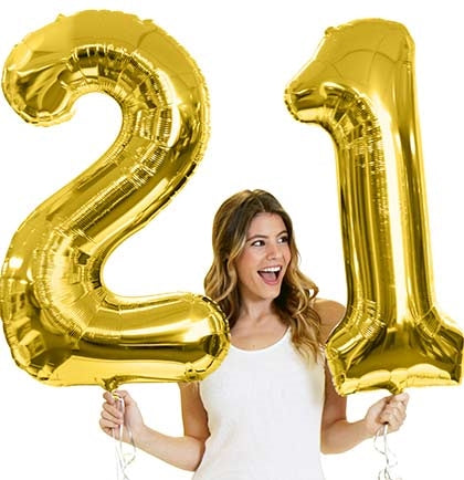 Birthday Number Balloons - PICK YOUR NUMBERS! (Rose Gold, Gold, or Silver)