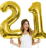 Load image into Gallery viewer, Birthday Number Balloons - PICK YOUR NUMBERS! (Rose Gold, Gold, or Silver)