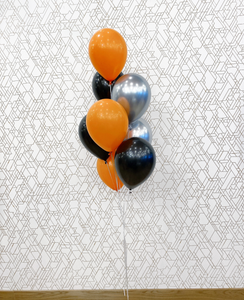 Black, Silver, & Orange Balloons - Halloween Balloons Bouquet