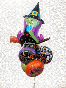 The Witch is In - Deluxe Halloween Balloon Bouquet