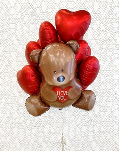 "XL Teddy Bear ""I Love You"" With Dozen Hearts"