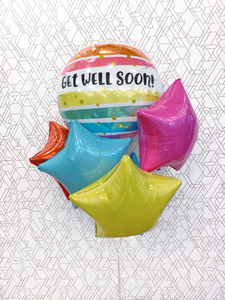 Get Well Balloon - SuperShape Foil Balloon - Balloon Bouquet