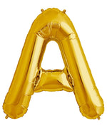 "Load image into Gallery viewer, Foil Letter Balloons Large Size - ""A"" - Rose Gold, Silver, or Gold"