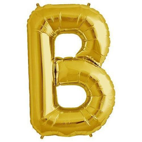 "Foil Letter Balloons Large Size - ""B"" - Rose Gold, Silver, or Gold"