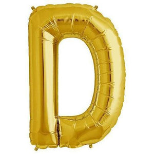"Foil Letter Balloons Large Size - ""D"" - Rose Gold, Silver, or Gold"