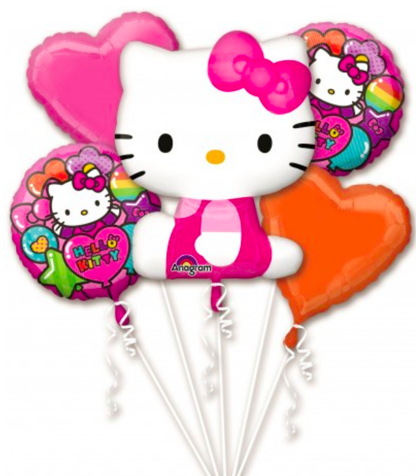 Hello Kitty Balloons (Extra Deluxe Bouquet) Kids Birthday Balloons