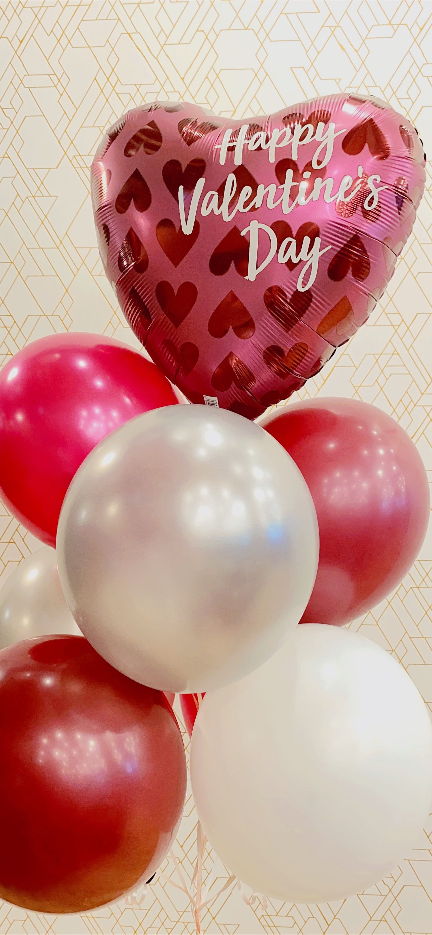 Merlot Hearts 💖Deluxe Valentines Day Balloon Bouquet