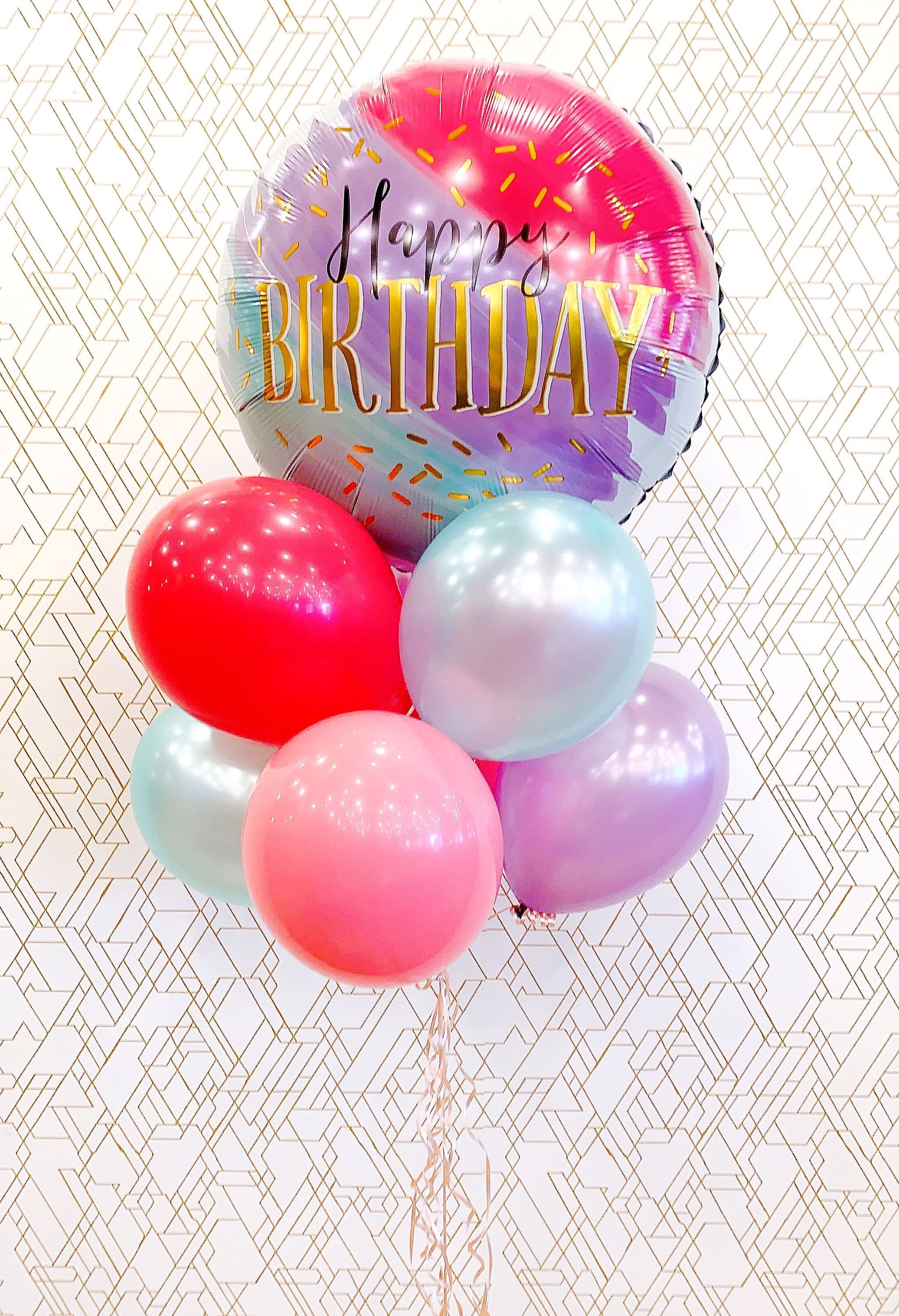 Happy Birthday! JUMBO Deluxe Colorful Foil Balloon Bouquet