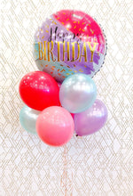 Load image into Gallery viewer, Happy Birthday! JUMBO Deluxe Colorful Foil Balloon Bouquet