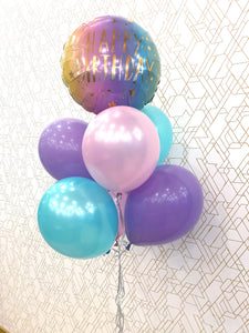 Happy Birthday! Pastel Foil Balloon Bouquet