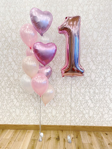 Extra Special Birthday Balloon Package (1 Number & Deluxe Balloon Bouquet)