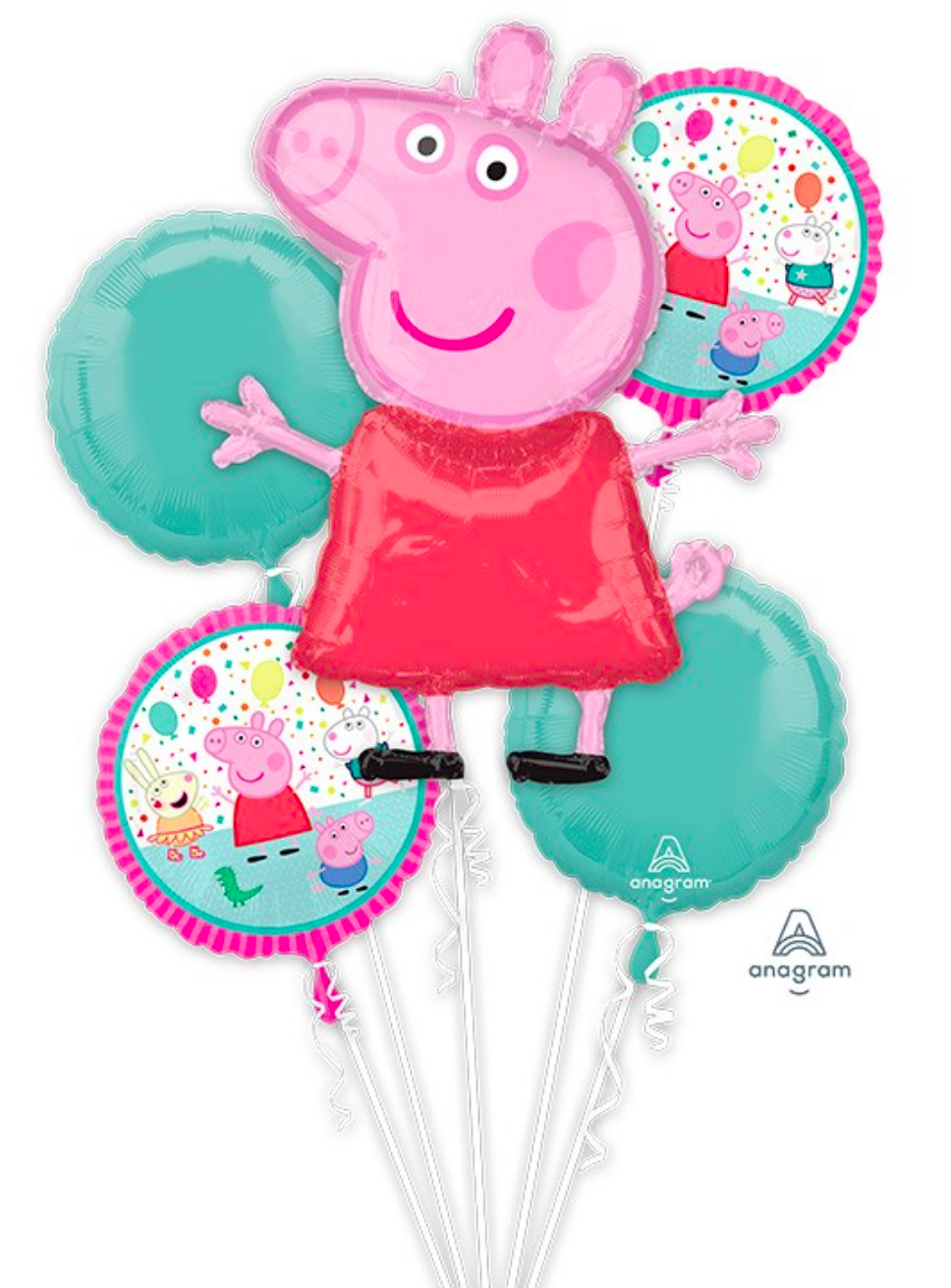 Peppa the Pig Balloons (Extra Deluxe Bouquet) Kids Birthday Balloons
