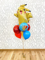 Load image into Gallery viewer, Pokemon Pikachu (Extra Deluxe Bouquet) Kids Birthday Balloons