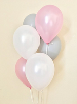 Load image into Gallery viewer, Balloon Bouquets - Pink, White, Grey Balloons