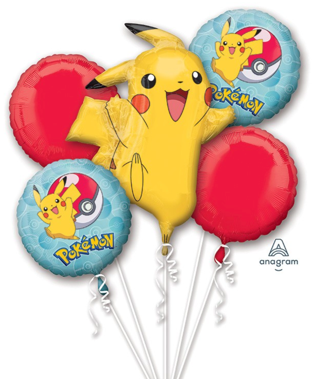 Pokemon Pikachu (Extra Deluxe Bouquet) Kids Birthday Balloons