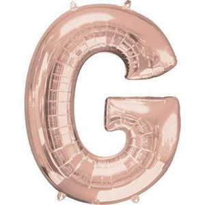 "Foil Letter Balloons Large Size - ""G"" - Rose Gold, Silver, or Gold"