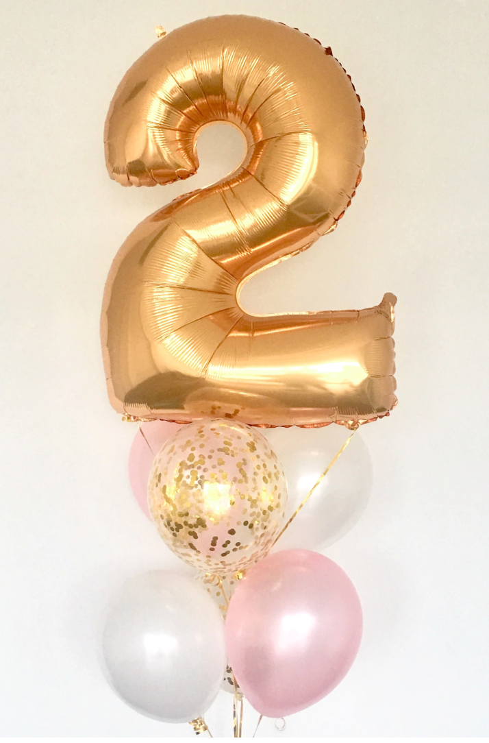 Birthday Balloon Package (1 Number & Standard Balloon Bouquet)