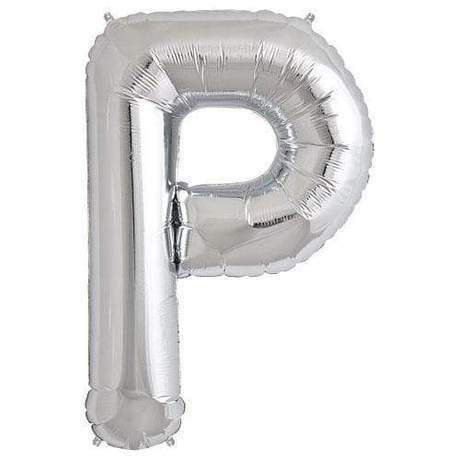 "Foil Letter Balloons Large Size - ""P"" - Rose Gold, Silver, or Gold"
