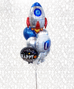 Load image into Gallery viewer, Astronaut Space Birthday Balloon Bouquet