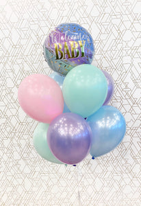 Welcome Baby - Baby Shower Balloons - Gender Neutral Pastels