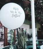 Load image into Gallery viewer, Custom Text Balloon - Pick Your Color - JUMBO 3' Balloon
