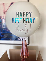 Load image into Gallery viewer, Custom Happy Birthday JUMBO 3' Balloon