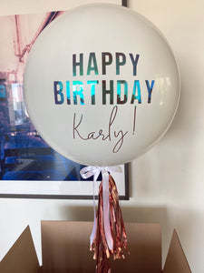 Custom Happy Birthday JUMBO 3' Balloon