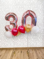 Load image into Gallery viewer, Special Birthday Package (2 Numbers & Balloons)