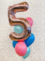 Load image into Gallery viewer, Birthday Balloon Package (1 Number & Standard Balloon Bouquet)