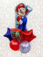 Load image into Gallery viewer, Super Mario Balloons (Extra Deluxe Bouquet) Kids Birthday Balloons