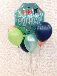 Happy Birthday! JUMBO Bouquet Foil Balloon Arrangement