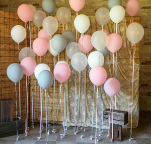 Balloon Bouquets - Pink, White, Grey Balloons
