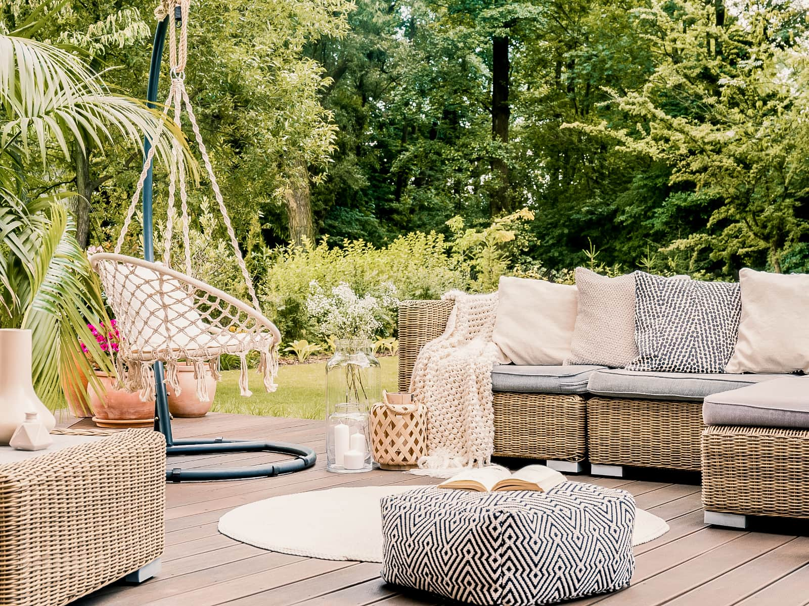 Decorated Outdoor Patio