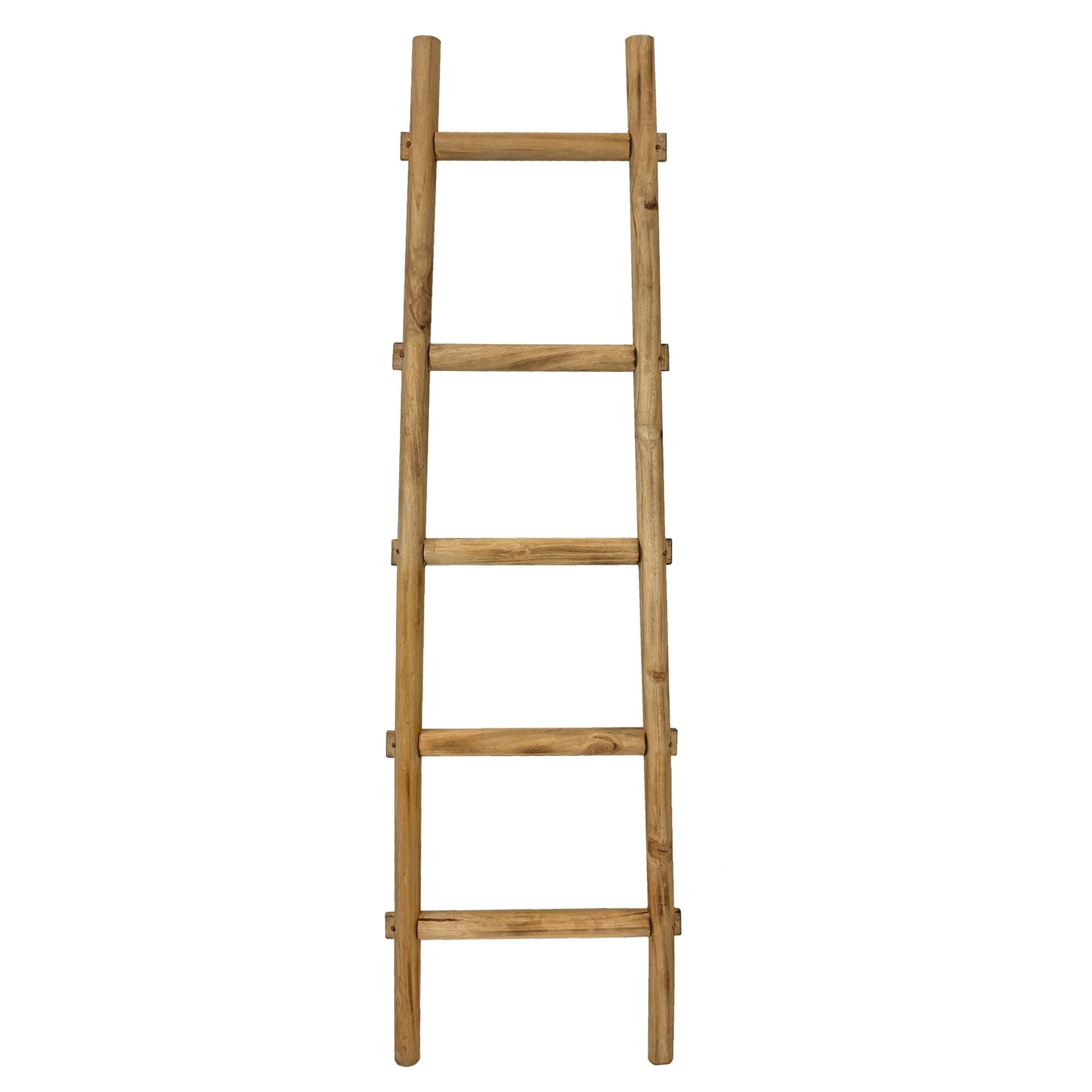 5 Step Brown Decorative Ladder Shelve