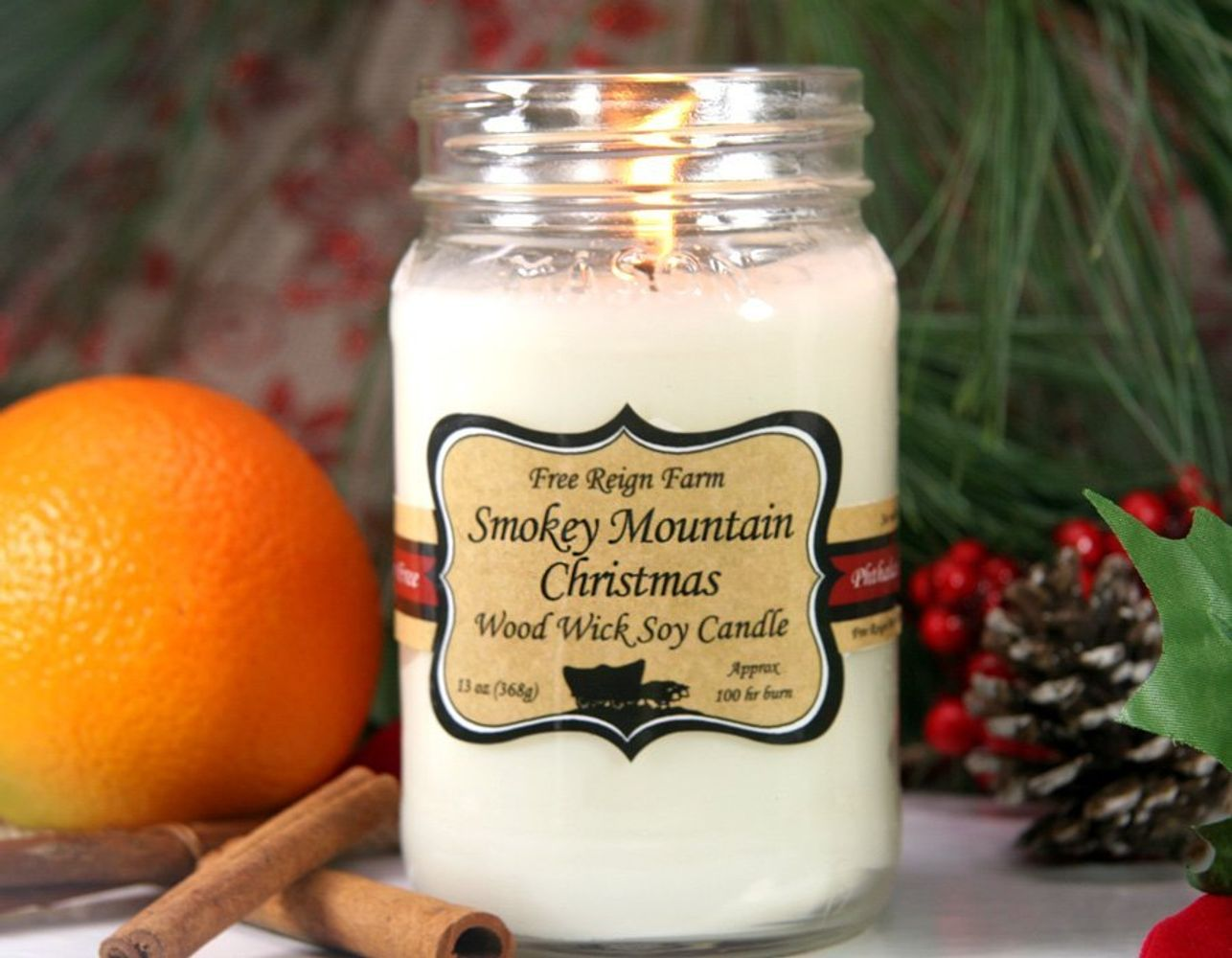 Smokey Mountain Christmas - Wood Wick Candles