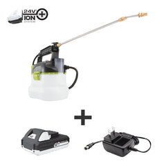 Sun Joe SPRAY-BDL Chemical  Sprayer Starter Kit | Includes 24-Volt Multi-Purpose Chemical Sprayer and 1 Gallon Cleaner Concentrate