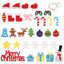 Load image into Gallery viewer, DIY Crafts Toys Felt Christmas Tree Snowman with Ornaments Fake Christmas Tree Kids Toy Christmas Party Decoration New Year 2020