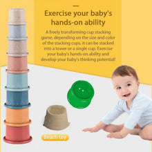Load image into Gallery viewer, Montessori Baby Stacking Cups