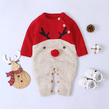 Load image into Gallery viewer, Knitted Romper reindeer Jumpsuit
