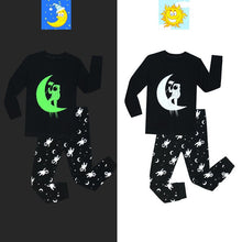 Load image into Gallery viewer, Glow in the dark shadow pajamas