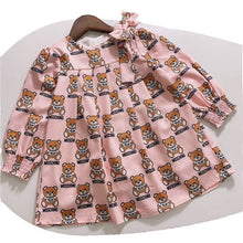 Load image into Gallery viewer, Teddy Bear Bow Dress