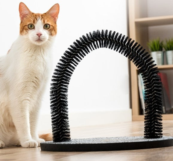Scratcher and Grooming Arch For Cats
