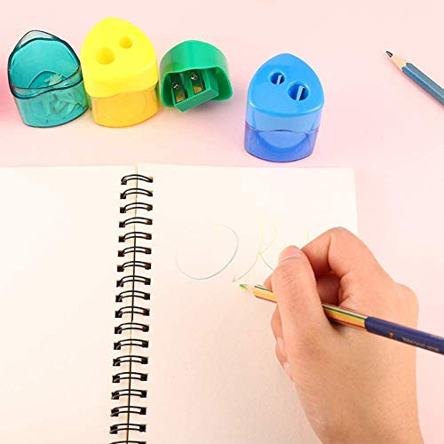 Colorful Compact Pencil Sharpener (  4 Packs )