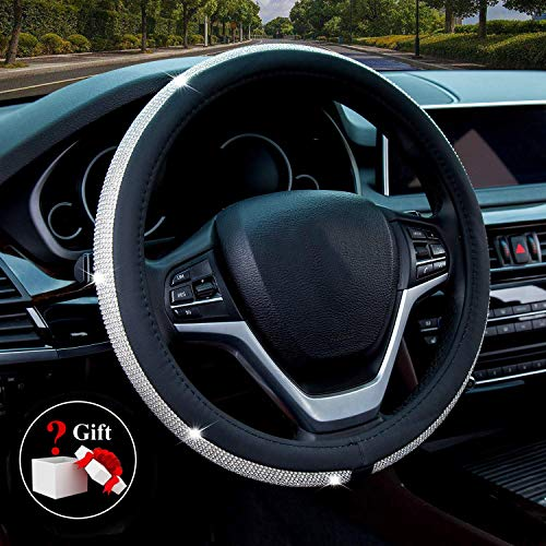 Diamond Leather Steering Wheel Cover