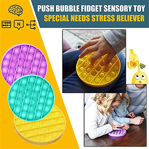 Push pop Bubble Sensory Fidget Toy ( 3 Pièces )