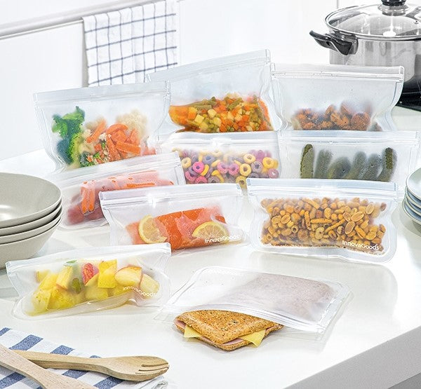 Reusable Food Bag Set ( 10 pieces )