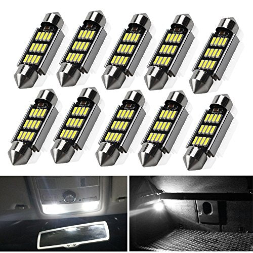 White Super Bright LED Interior Car Lights ( 10 pcs )