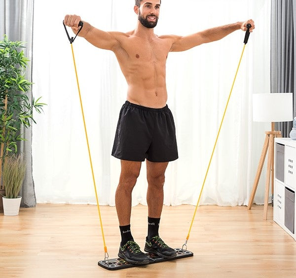 Workout System with Resistance Bands