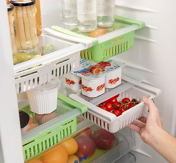 Adjustable Fridge Organiser ( Pack of 2 )